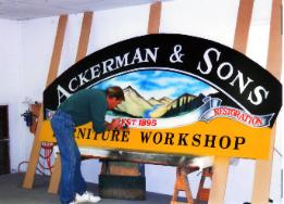 hand painted signage